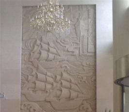 砂岩浮雕施工